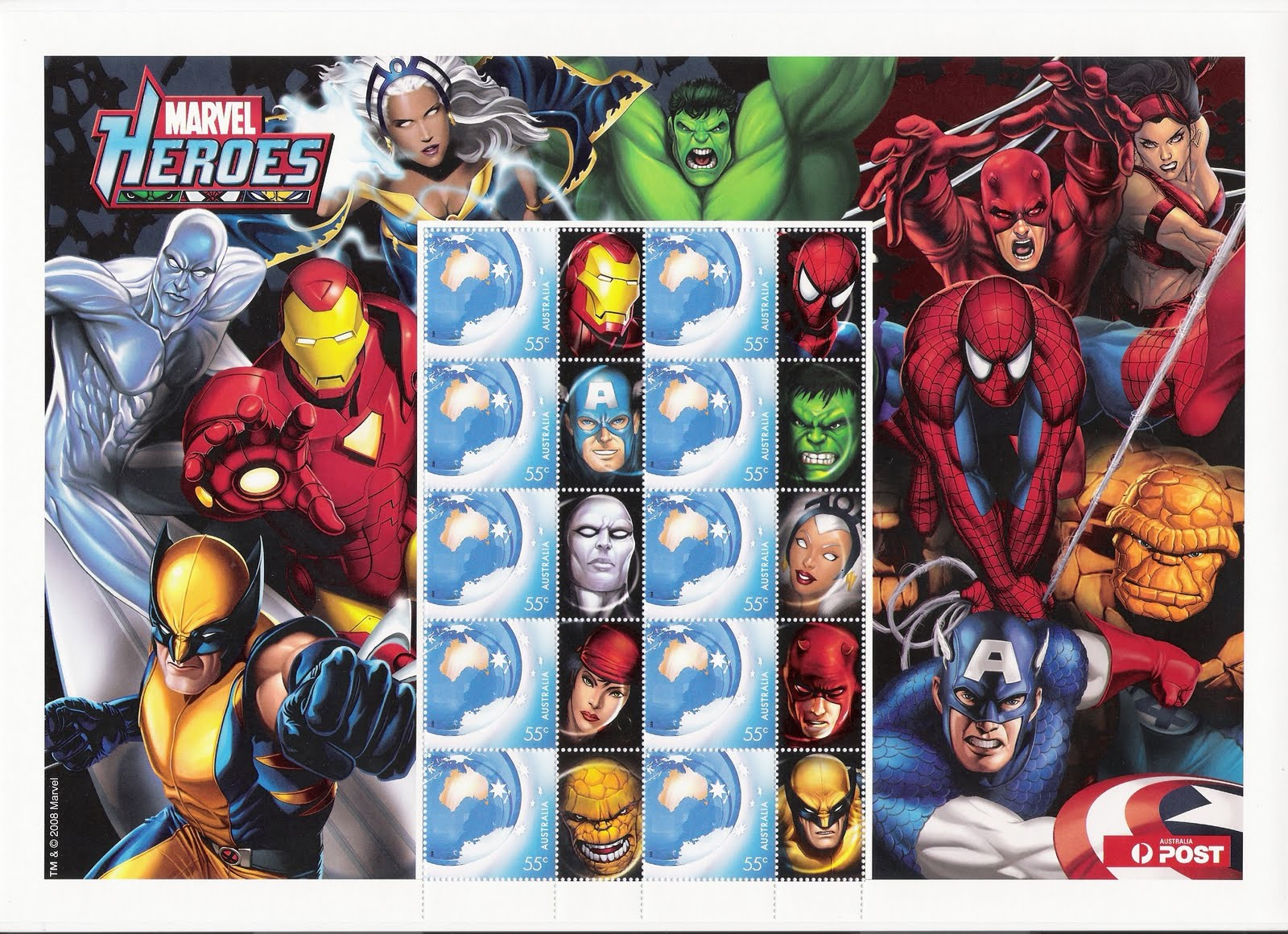 Marvel Superheroes Stamps. April 28, 2010 by Alex Tang Leave a Comment