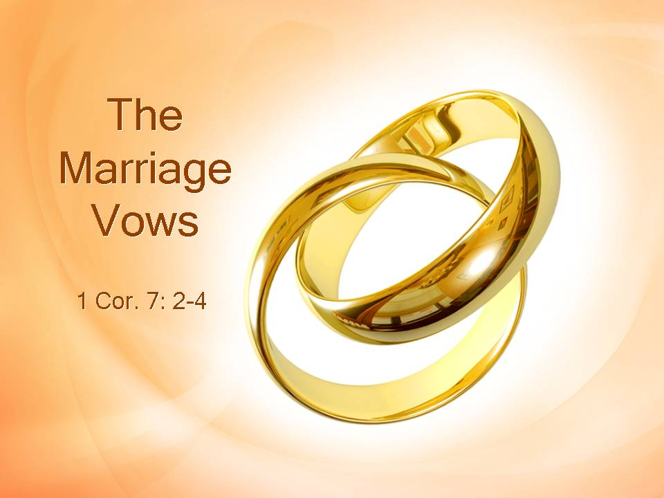 the marriage vows spiritual formation on the run
